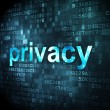Foto Stock: Security concept: Privacy on digital background