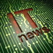 News concept: IT News on circuit board background — Foto de stock #29885209
