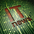 News concept: IT News on circuit board background — 图库照片 #29885209