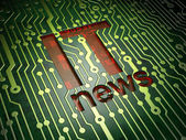 News concept: IT News on circuit board background — Stock Photo
