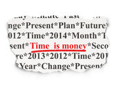 Timeline concept: Time is Money on Paper background — Stock Photo