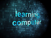 Education concept: Learning Computer on digital background — Stock Photo