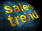 Marketing concept: Sales Trend on digital background — Stock Photo