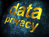 Safety concept: Data Privacy on digital background — 图库照片