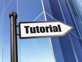Education concept: Tutorial on Building background — Stock Photo