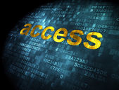 Safety concept: Access on digital background — Stock Photo