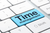 Time concept: Time Management on computer keyboard background — Stock Photo