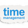 Time concept: Time Management on Paper background — Stock Photo