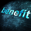 Business concept: Benefit on digital background — Stock Photo #29946473