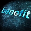 Business concept: Benefit on digital background — 图库照片