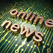 News concept: Online News on circuit board background — Stock Photo