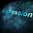 Photo: Marketing concept: Impression on digital background