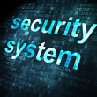Foto Stock: Safety concept: Security System on digital background