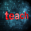 Stock Photo: Education concept: Teach on digital background