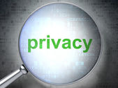 Safety concept: Privacy with optical glass — Stock Photo