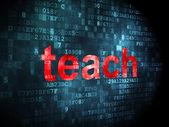 Education concept: Teach on digital background — Stock Photo
