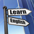 Stock Photo: Education concept: Learn English on Building background