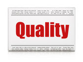 Marketing news concept: newspaper headline Quality — Stock Photo