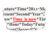 Timeline concept: Time is Now on Paper background — Stock Photo