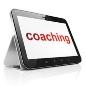 Education concept: Coaching on tablet pc computer — Stock Photo