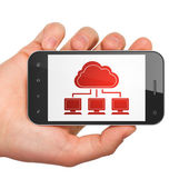 Cloud computing concept: Cloud Network on smartphone — Foto Stock