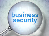 Privacy concept: Business Security with optical glass — Foto de Stock