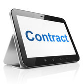 Finance concept: Contract on tablet pc computer — Stock Photo