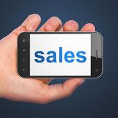 Marketing concept: Sales on smartphone — Stock Photo