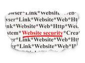 Web development concept: Website Security on Paper background — Stockfoto