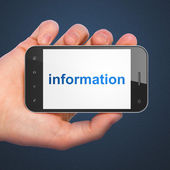 Information concept: Information on smartphone — Stock Photo