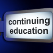 Stock Photo: Education concept: Continuing Education on billboard background
