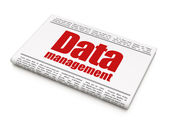 Information news concept: newspaper headline Data Management — Stock Photo