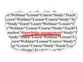 Education concept: Knowledge Management on Paper background — Stock Photo