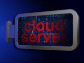 Cloud computing concept: Cloud Server on billboard background — Stock Photo