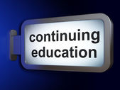 Education concept: Continuing Education on billboard background — Foto Stock