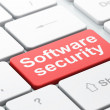 Safety concept: Software Security on computer keyboard backgroun — Stock Photo