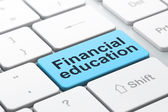 Education concept: Financial Education on computer keyboard back — Stockfoto