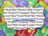 Business concept: Project Management on Credit Card background — Stock Photo