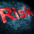Business concept: Risk on digital background — Stock Photo