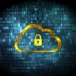 Cloud computing concept: Cloud With Padlock on digital backgroun — Foto Stock