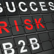 Finance concept: Risk on airport board background — Foto Stock