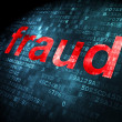 Security concept: Fraud on digital background — Stock Photo