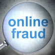 Privacy concept: Online Fraud with optical glass — Stock Photo