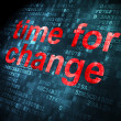Stockfoto: Time concept: Time for Change on digital background