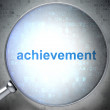 Stock Photo: Education concept: Achievement with optical glass