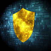 Privacy concept: Shield on digital background — Stock Photo