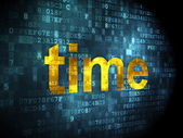 Timeline concept: Time on digital background — Stock Photo