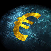 Currency concept: Euro on digital background — Stock Photo