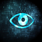 Privacy concept: Eye on digital background — Stock Photo