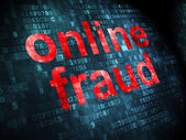 Safety concept: Online Fraud on digital background — Stock Photo